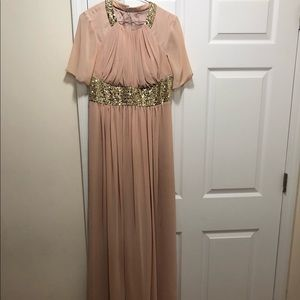 Long Pink and Gold Dress